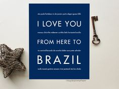 I Love You From Here To Brazil art print