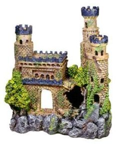 "Resin Ornament - medieval Castle 11.5 X 5.5 X 12"""