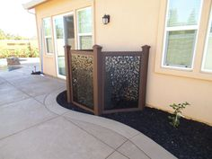 diy hacks - 5 DIY Hacks to Keep Your Home Cooler This Summer - Backyard Projects, Outdoor Projects, Backyard Patio, Backyard Landscaping, Diy Hacks, Hide Ac Units, Backyard Privacy Screen, Privacy Screens, Garden Privacy