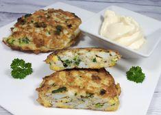 Kotlety jajeczne - świetny pomysł na pyszny bezmięsny obiad, ale i na śniadanie czy kolację. Bardzo proste i szybkie do zrobienia. Lchf, Paleo, Keto Recipes, Healthy Recipes, Keto Foods, Healthy Food, Keto Dinner, Salmon Burgers, Food And Drink