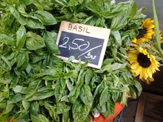 The smell of fresh basil caught my nose as I walked by! Fresh Basil, Walking By, Lettering, Food, Essen, Drawing Letters, Meals, Yemek, Eten