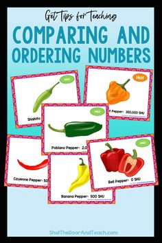 Step by step tips for teaching how to compare and order numbers to 1 million. Read how on Shut the Door and Teach. Upper Elementary Resources, Elementary Math, Ordering Numbers, Math Task Cards, Fourth Grade Math, Fun Math Games, Common Core Math, Teacher Blogs, Math Classroom