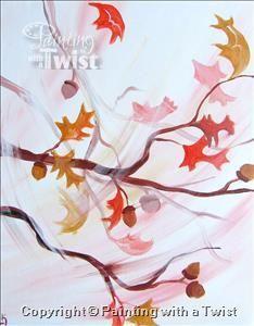 Fall Leaves   11/1/2015 - Painting with a Twist, Farmington, MI