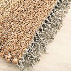bath mat - flat weaved jute