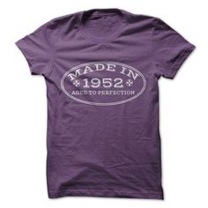Made In 1952 Aged To Perfection - #matching shirt #tshirt women. THE BEST => https://www.sunfrog.com/LifeStyle/Made-In-1952-Aged-To-Perfection-9753953-Guys.html?68278