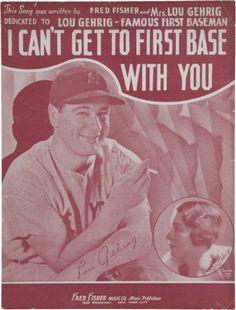 Ten Valuable Baseball Sheet Music Collectibles