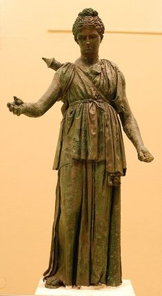 Bronze statue of Artemis, Archaeological Museum of Piraeus / by MariPanda via Flickr