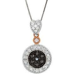 "14kt 1/4 CTW Black & White Diamond 18"" Necklace"