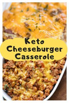 Keto Cheeseburger Casserole This keto cheeseburger dish is heavenly, in a wonderfully non-gourmet kind of way. Adults and children alike consistently appreciate it. Furthermore, the more youthful one – the Picky Eater-frequently requests seconds! Healthy Recipes, Low Carb Recipes, Diet Recipes, Cooking Recipes, Healthy Hamburger Recipes, Keto Crockpot Recipes, Hamburger Recipes For Dinner, Homemade Hamburger Helper, Bariatric Recipes
