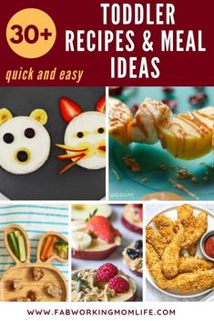 If you're searching for quick and easy toddler recipes and toddler meals for picky eaters you've got to check out this post! This roundup contains healthy toddler meal ideas as well as finger foods for toddlers and 1-year-old meal ideas. Keep reading for your toddler meal plan for quick dinner ideas for toddlers! | Fab Working Mom Life #toddler #dinner #feedinglittles #feedingtoddlers #familydinner #workingmom #workingmomlife #parenting