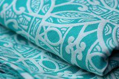 Whenua Purotu  42% ecru Egyptian cotton, 38% turquoise Egyptian cotton, 20% natural hemp