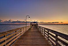 Fishing Pier at Sunset Point, Lake Ponchartrain, Mandeville, La