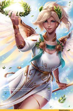 Blizzard,Blizzard Entertainment,фэндомы,Mercy (Overwatch),Overwatch,Overwatch art,OlchaS,Olga Solovian,artist