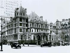 William Vanderbilt's Petit Chateau in NYC,  once located where Bergdorf Goodman stands today. Designed by Richard Morris Hunt.