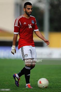 Hossam Hassan of Egypt in action during the Toulon Tournament Group A match between Egypt and Netherlands at Stade Perruc on May 23 2012 in Hyeres...