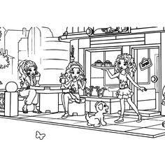 print this lego friends coloring sheet - Lego Friends Horse Coloring Pages