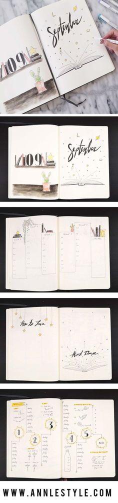 Bullet Journal Ideas Doodles - Plan with Me September 2017