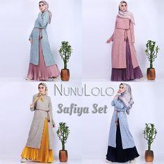 Assalamualaikum Safiya set by Nunulolo (Tunik+rok+belt) Bahan tunik kaos knitt. by Hijab Fashion, Ootd, Belt, Knitting, Mini, Womens Fashion, Instagram Posts, Outfits, Dresses