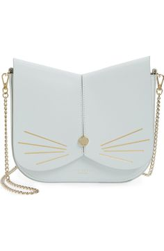 Main Image - Ted Baker London Cat Leather Crossbody Bag Crossbody Shoulder  Bag acbeb75168a0a