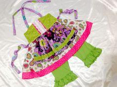 Girl Dress Size 4-5   PurpleTop & Pants Set; Everyday; Handmade; 100 % Cotton #Handmade #DressyEverydayHoliday