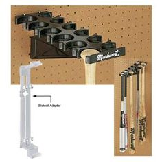 Bat Storage Shelf Softball Bat Hanger Holder and Organizer Wall Rack HAI+ Wall Mount Horizontal Baseball Bat Display Case Bat Souvenir Stand