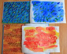 Eric Carle inspired art projects for kids and other Eric Carle ideas .