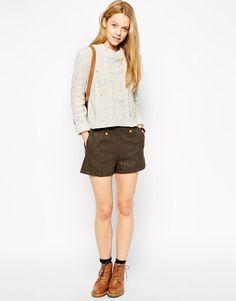 Miss Patina | Miss Patina Shandy Shorts In Tweed at ASOS