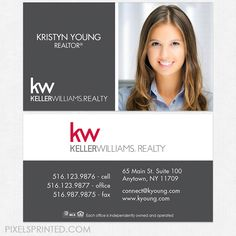 83 best keller williams business cards images on pinterest keller williams business cards reheart Image collections