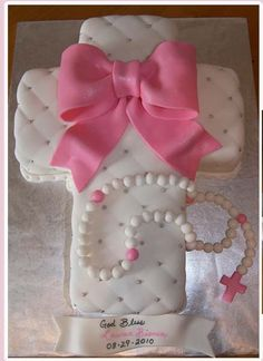 Cross baptism cake... without the rosary