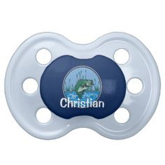 Personalized Babies Bass Fishing Sport Fisherman Pacifier