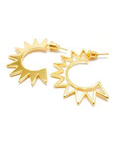 Joyiia | Gold Sunburst Earrings – Online Jewelry Boutique