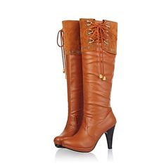 Women's Shoes Platform Chuncky heel Knee High Boots More Colors available – USD $ 36.39