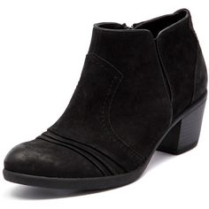 Planet Zara Black (108 AUD) ❤ liked on Polyvore featuring shoes, boots, ankle booties, faux boots, black ankle boots, mid heel ankle boots, bootie boots and short boots