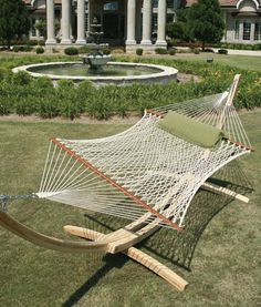 The Original Hammock Shop - Home of the Original Pawleys Island Rope Hammock. Also available are DuraCord hammocks, hammock swings, and hammock accessories. Hammock Posts, Rope Hammock, Hammock Swing, Outdoor Curtains, Outdoor Rooms, Outdoor Living, Outdoor Furniture, Outdoor Decor, Furniture Ideas