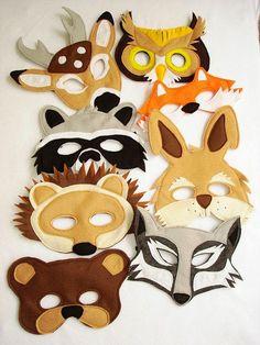 KOLORY MARZEŃ: Filcowe maski karnawałowe