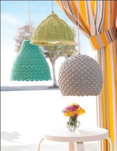 The lampshade to hook yourself