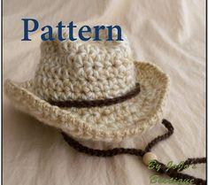 Baby Cowboy Hat PATTERN - Baby Cowboy Hat - Western Hat Pattern - Crochet  cowboy Hat Pattern - Instant Download-by JoJosBootique eb9ba911463