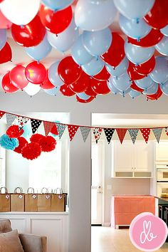 balloon idea if you went with the red white and blue color scheme.