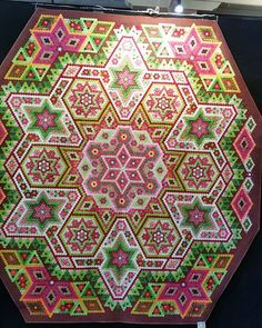 Limeberry Tart created by Lyn at Busy Quilting using Fil-Tec Bobbin Central Glide thread and Magna-Glide bobbins.