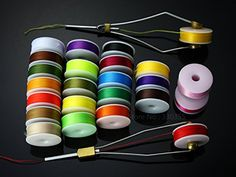 Fishing: Fly tying thread 24 colors, spools lures materials ** Check this awesome product by going to the link at the image.