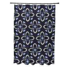 Geometric Floral Pattern Shower Curtain - 16991903 - Overstock.com Shopping - The Best Prices on Bath Decor