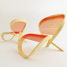 Bamboo plywood chair
