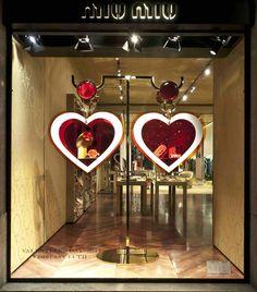 The faabulous Miu Miu Valentines window display