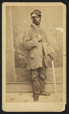 [African American man, full-length portrait, facing right] Union Soldier