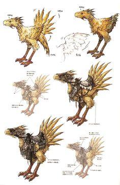 Chocobo - The Final Fantasy Wiki - 10 years of having more Final . Final Fantasy Xii, Fantasy Concept Art, Game Concept Art, Fantasy Series, Final Fantasy Artwork, Final Fantasy Characters, Fantasy Armor, Monster Design, Rpg
