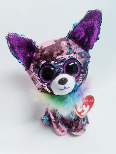 """Yappy"" TY Flippables beanie – The Willows Shop & Boutique Beanie Boo Dogs, Ty Beanie Boos, Beanie Babies, Ty Stuffed Animals, Plush Animals, Ty Peluche, Beanie Boo Birthdays, Justice Makeup, Cute Beanies"
