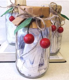 """Scripture preserves jar. put a bunch of encouraging scriptures in a jar and give to someone to read for encouragement= """"to perserve you alive"""""""