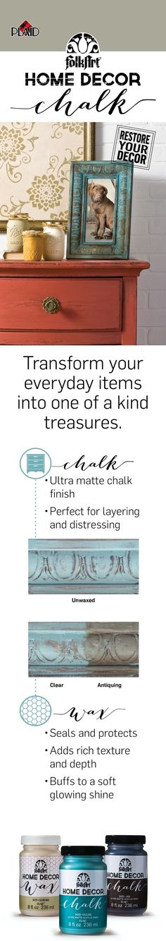 FolkArt Home Décor Chalk furniture and craft paint. I love this!