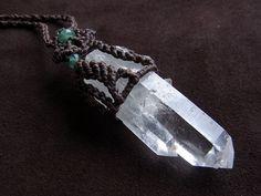 himalayan quartz × emerald pendant