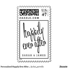 Personalized Happily Ever After Wedding Postage